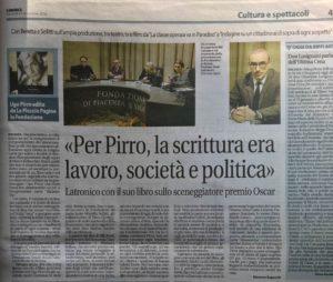 La presentazione di Ugo Pirro sulla Libertà